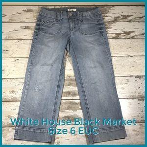 White House Black Market Size 6 Jean Capris EUC